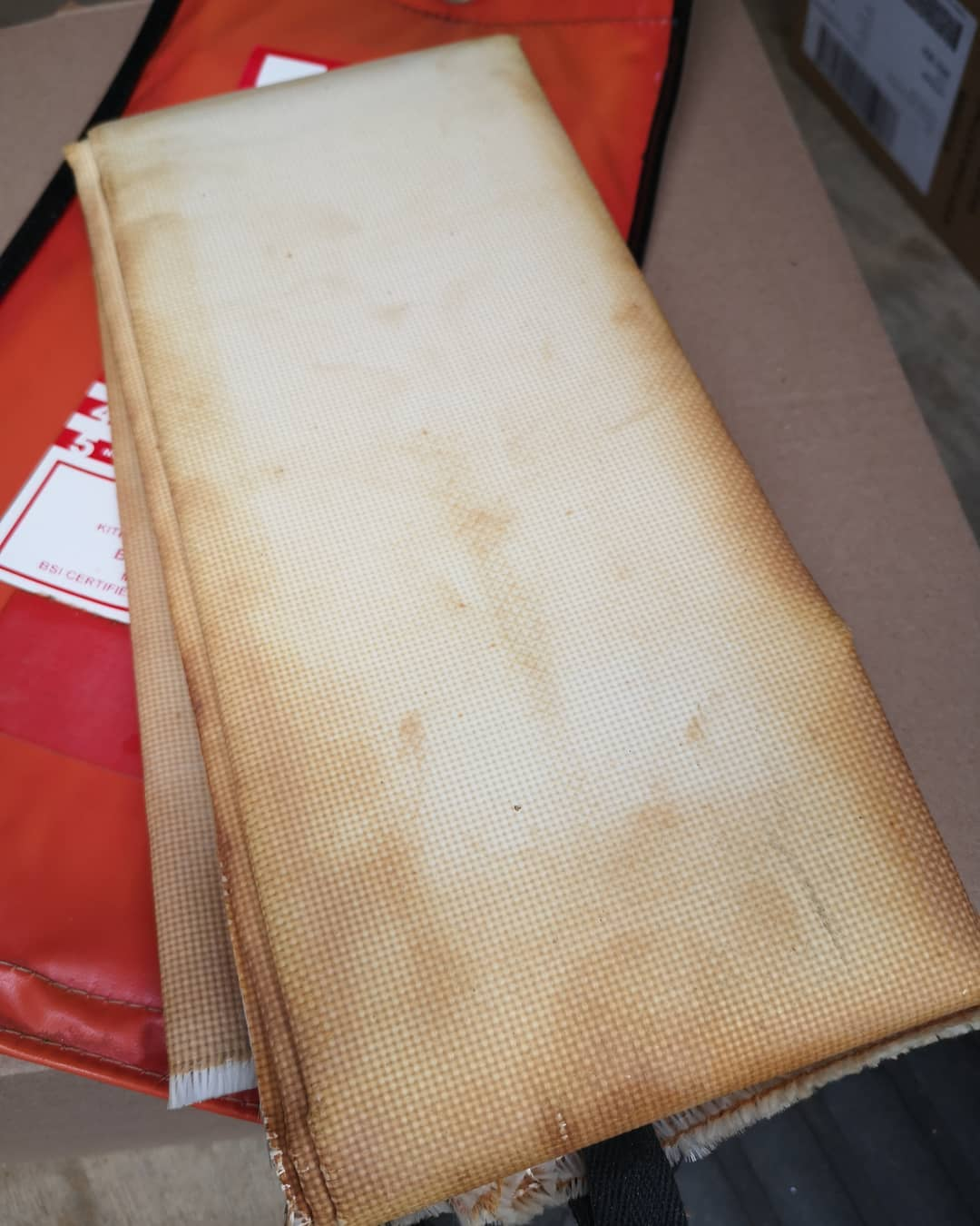 Old Condemned Fire Blanket
