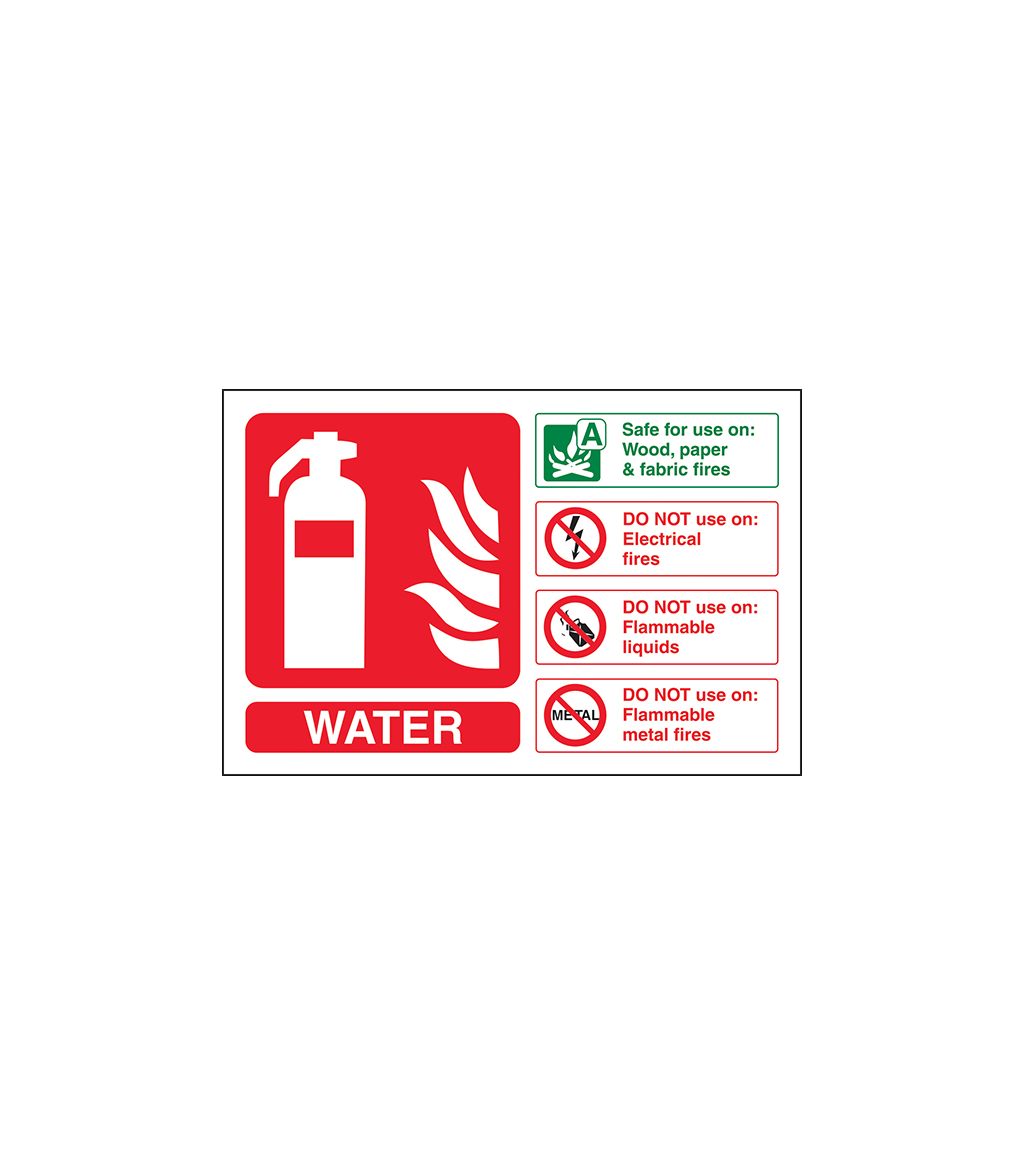 Fire Extinguisher ID Sign Norfolk