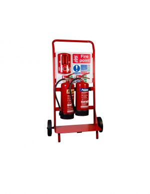 Double Extinguisher Trolley With Backboard