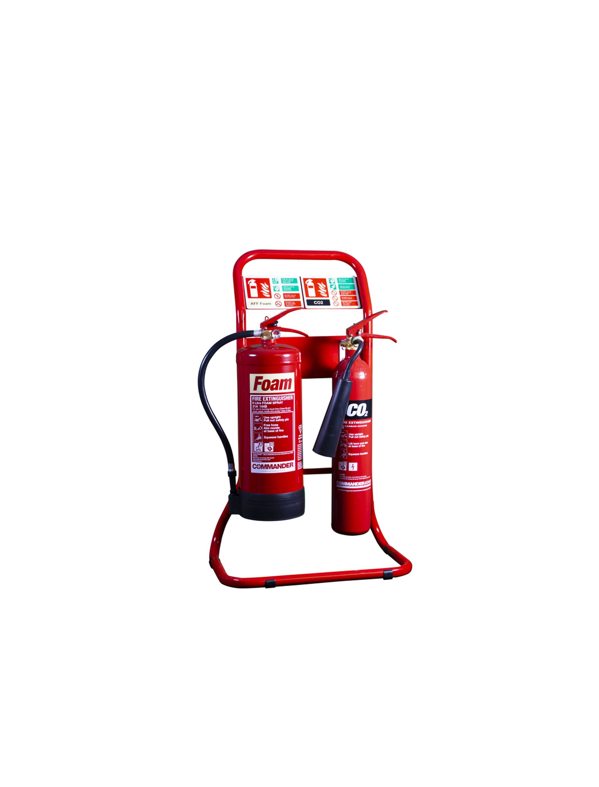 Fire Extinguisher Stand Red