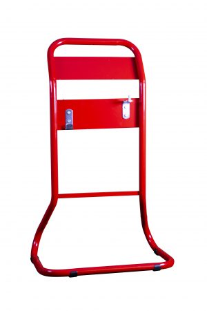 Red Tubular Extinguisher Stand
