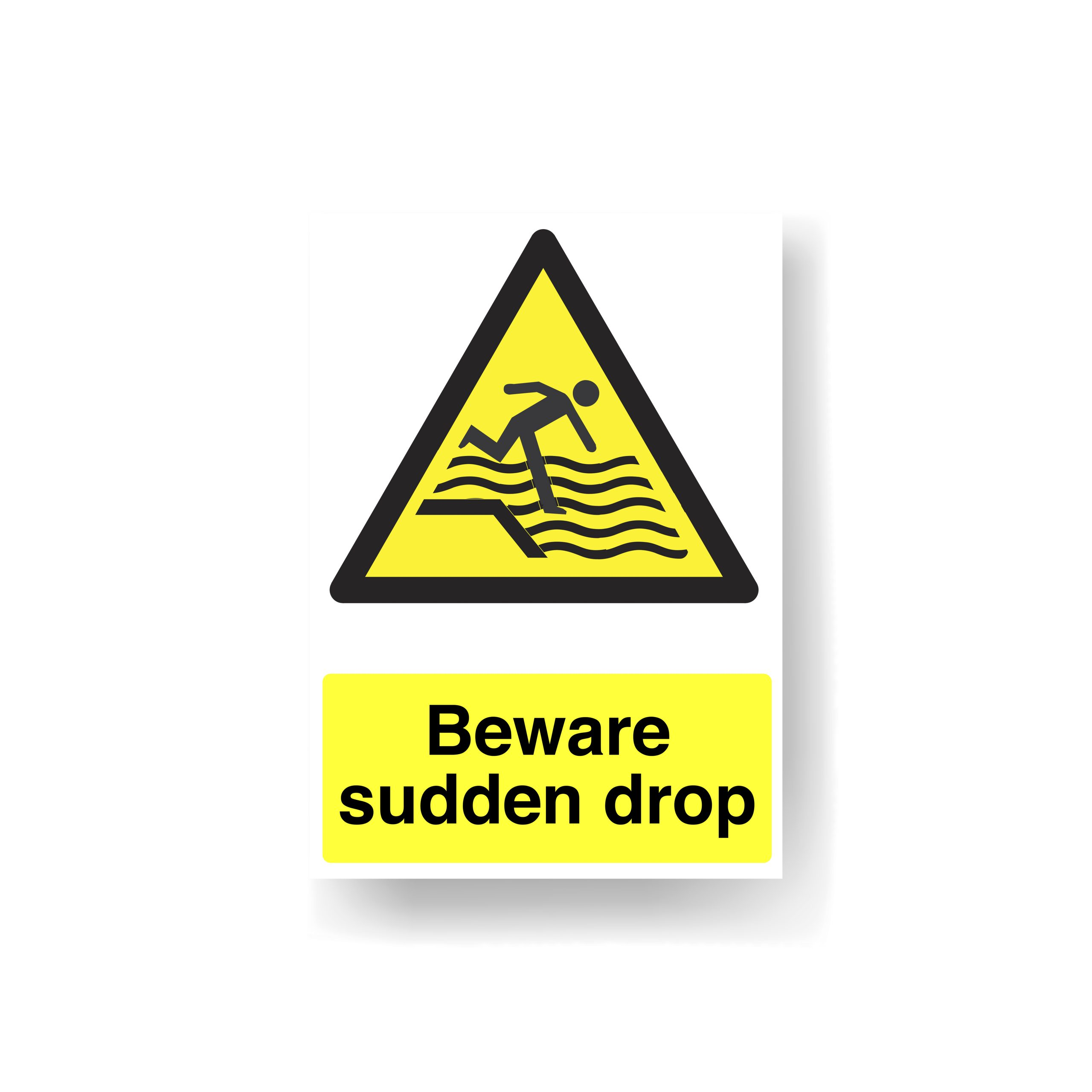 Sudden Drop Sign