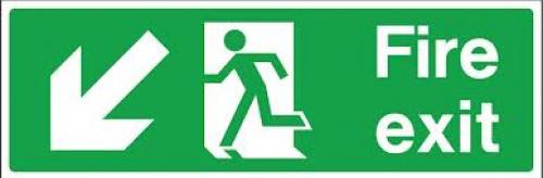 Fire Exit Diag Left Sign