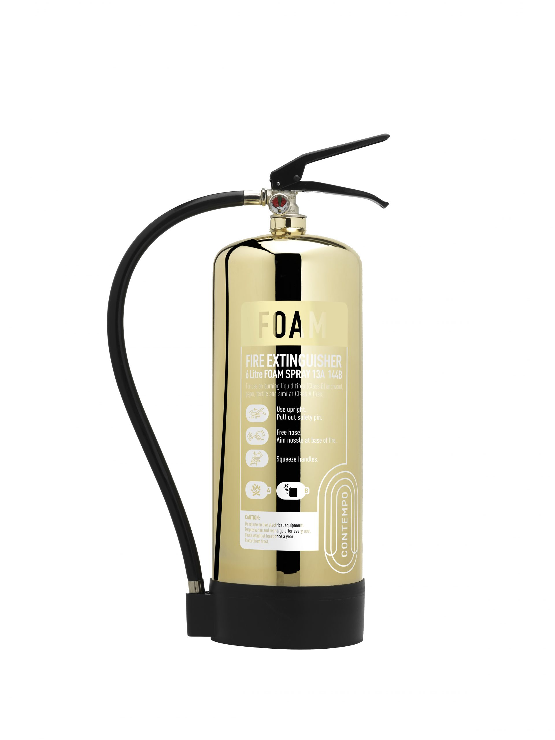 Gold Fire Extinguisher