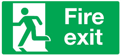 Final Fire Exit Sign