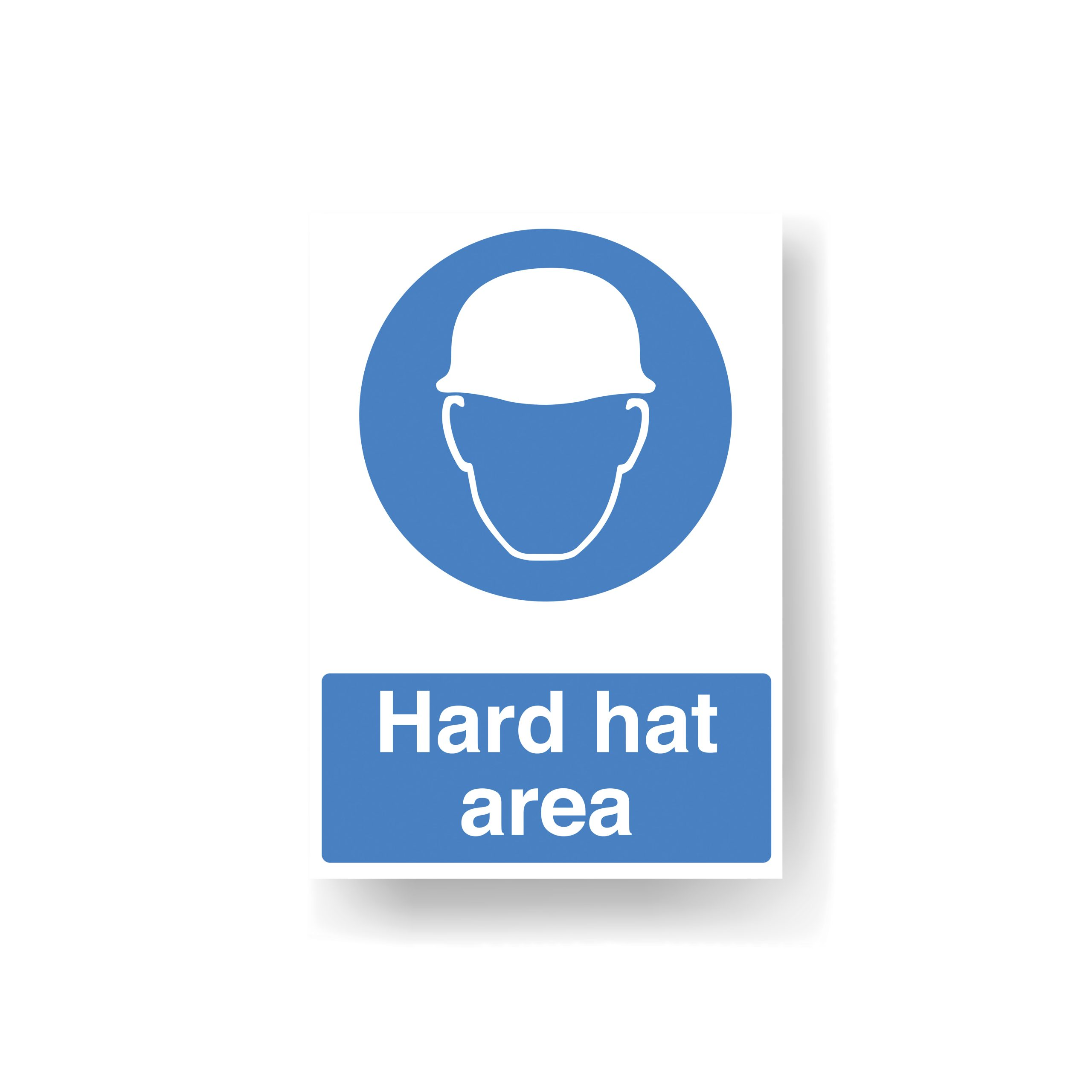 Hard hat must be worn safety sign
