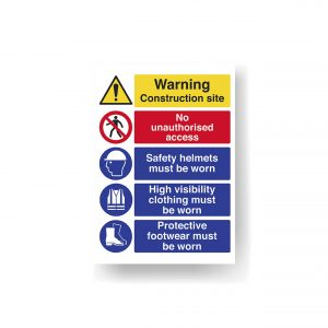 Construction Site Sign Board 700mm x 1000mm