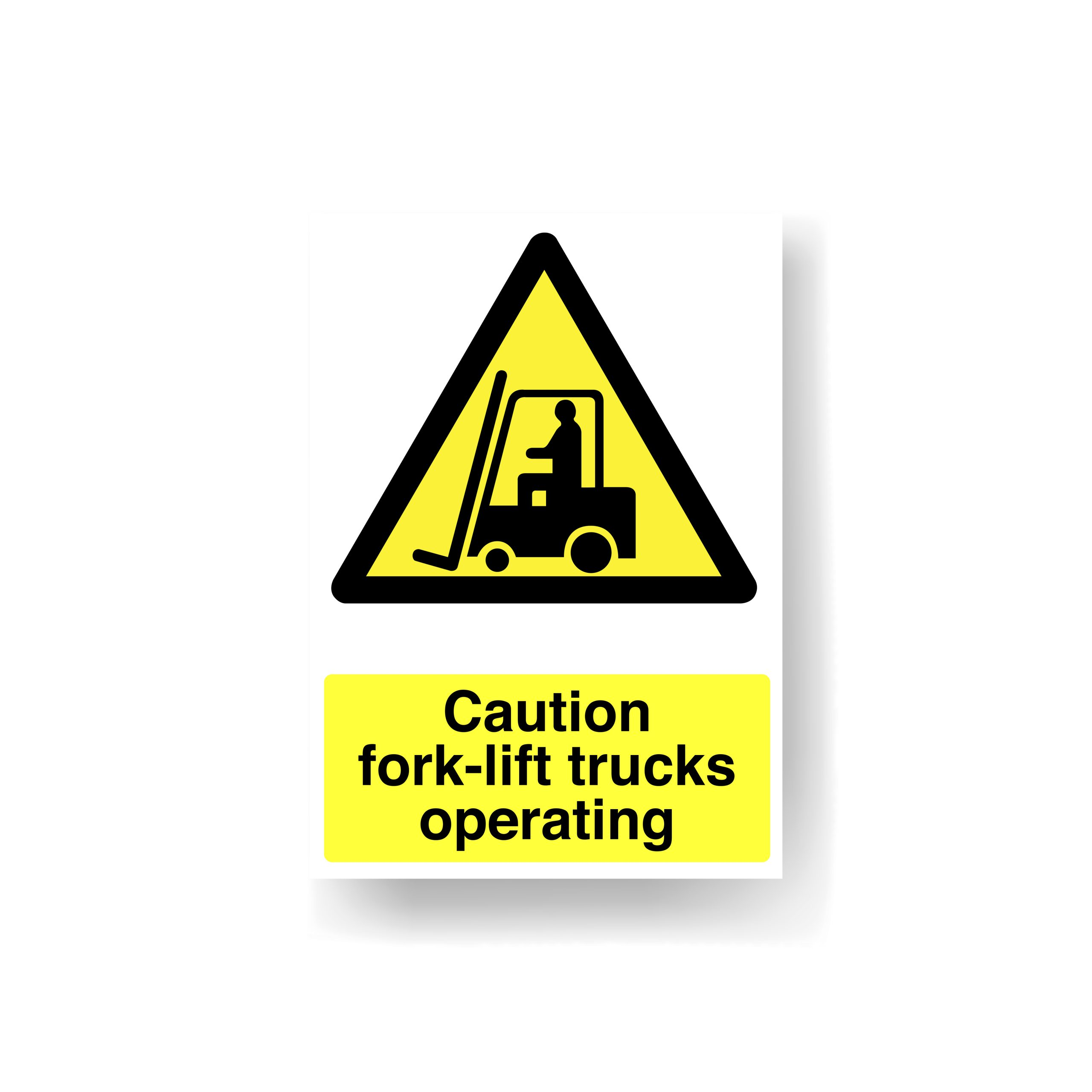 Caution Fork Lifts Operating