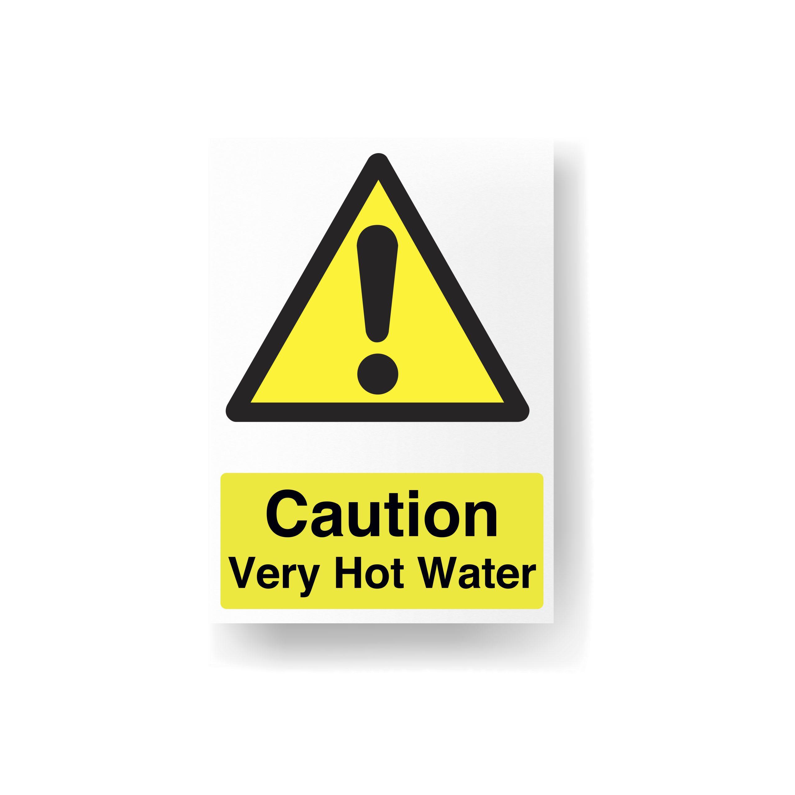 Warning Very Hot Water