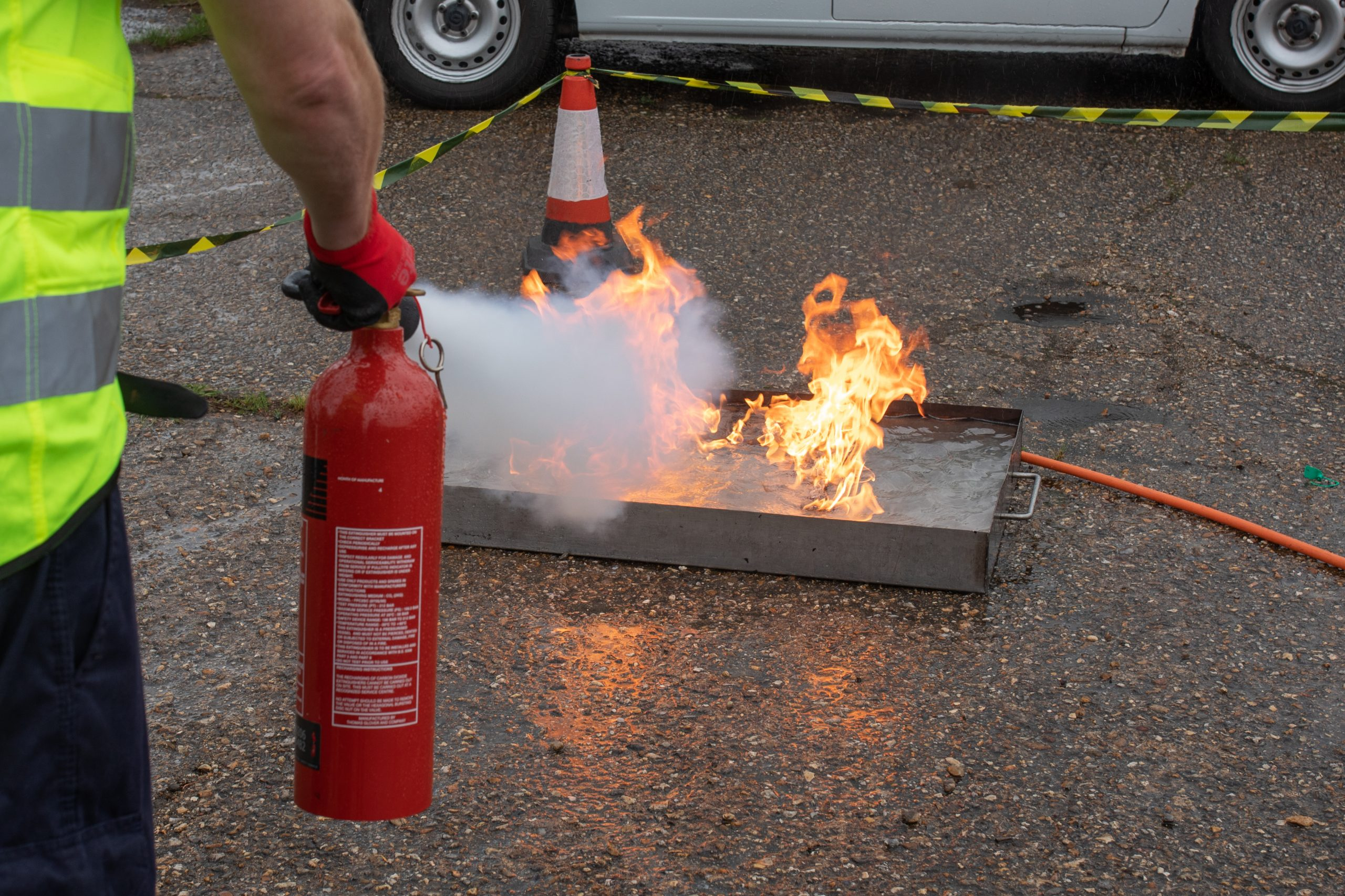 Norfolk Extinguisher Staff Fire Training