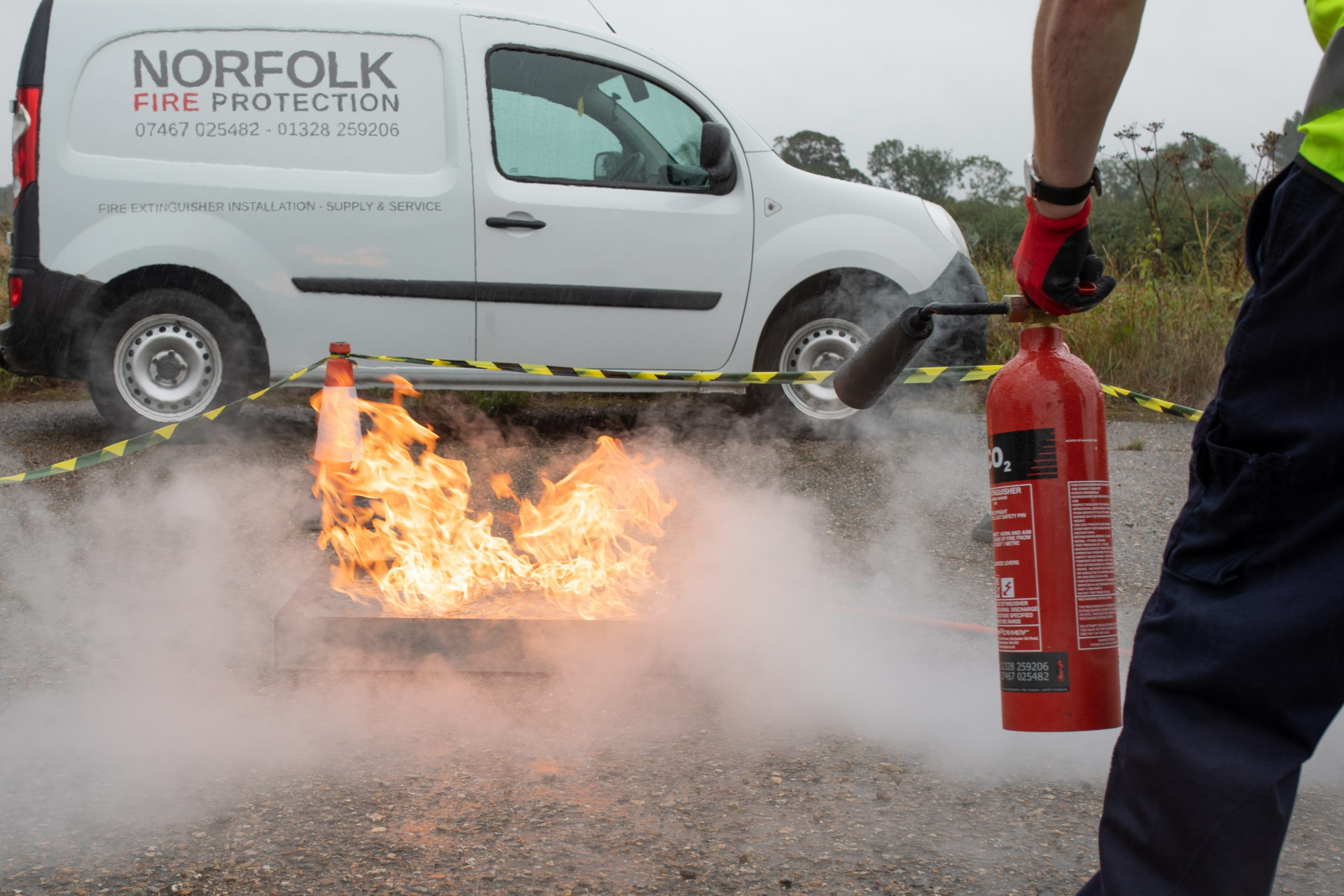 Norfolk Fire Training Extinguisher Marshal